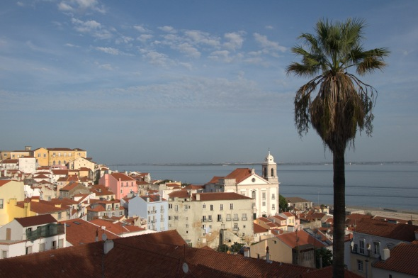 The Alfama district seen from the Mirador at Portas do Sol