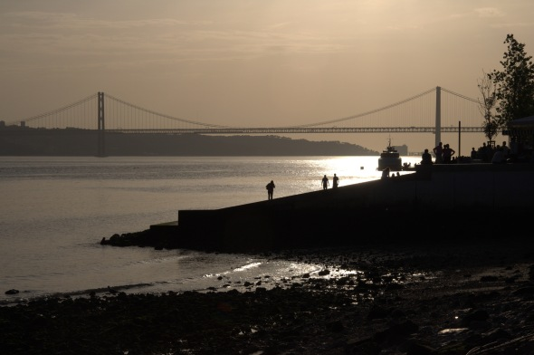 Lisbon's River Tejo shortly before sunset