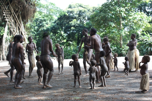 Yakel Kastom Villagers dancing