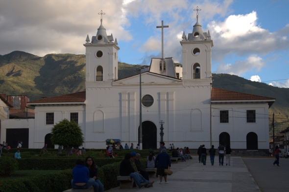 Chachapoyas' cathedral in the Plaza de Armas