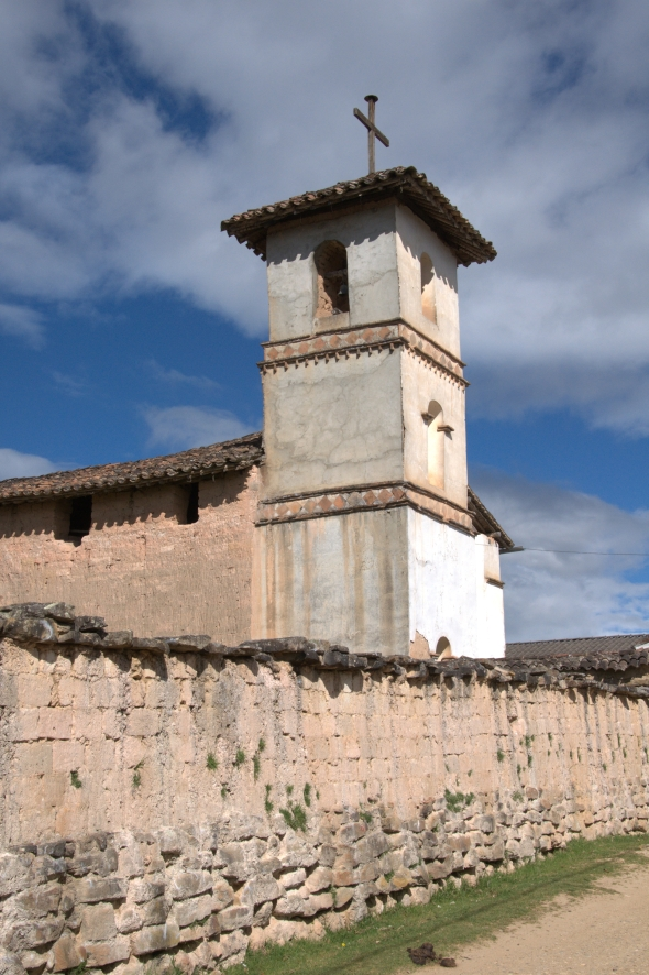 The adobe church in Huancas