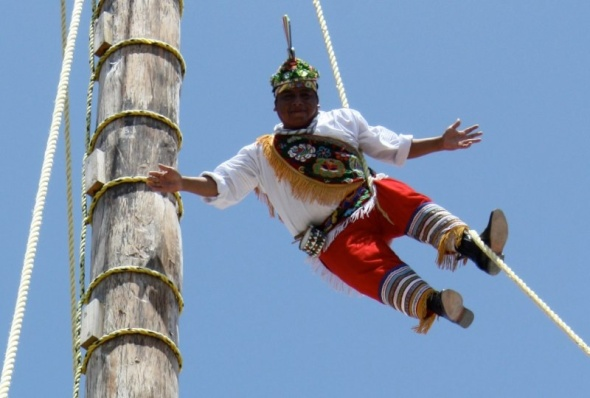 One of the four voladores