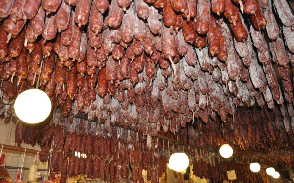 The ceiling of sausage