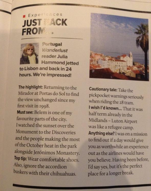 My Lisbon trip report
