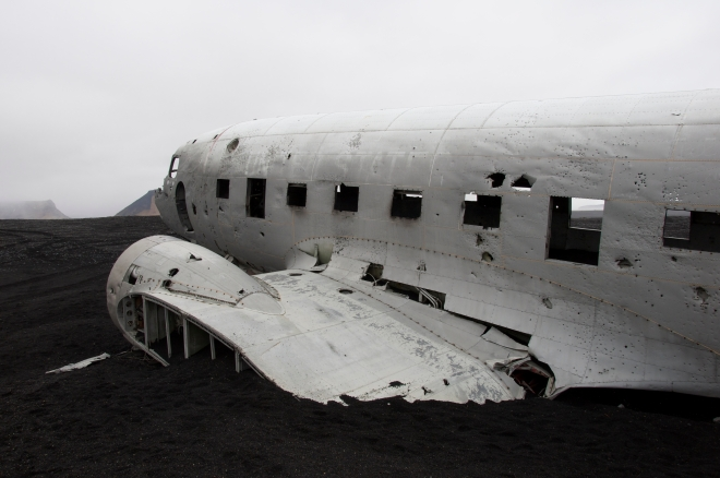 The crashed DC3 near Vik