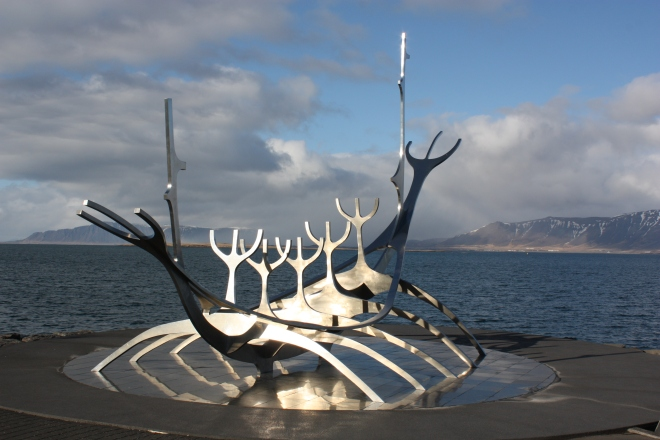 The Sun Voyager statue, Reykjavik