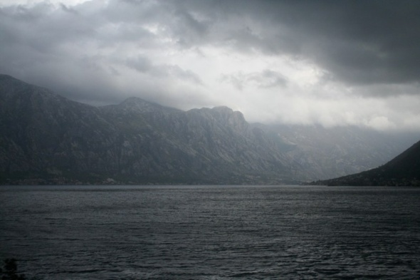 Kotor's fjord side setting - better luck with the weather than I had!