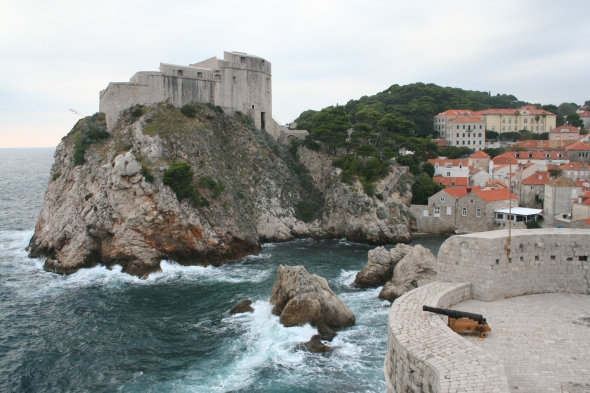A fortified city, Dubrovnik's thick walls were designed to protect from waves as well as invaders