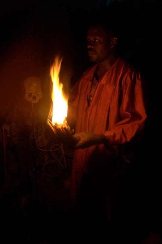 Vodou ceremony, Jacmel