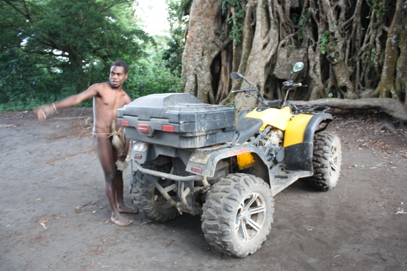 The quad bike reaches Yakel