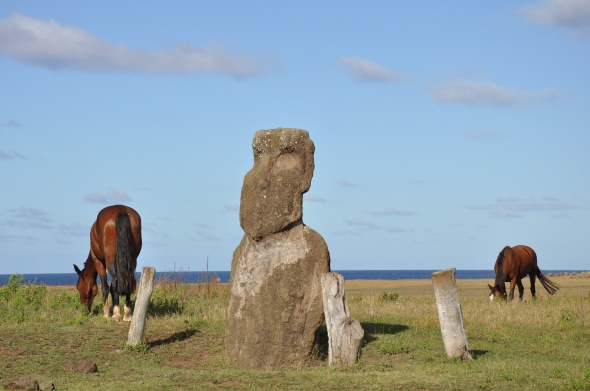 Visitors are requested to respect the island's heritage and keep off the ahu, but the horses don't always get the message