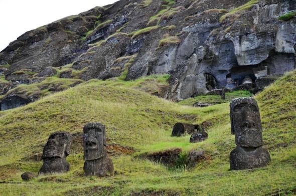 The moai quarry, Rano Raraku