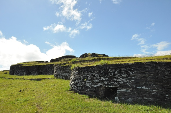 The unusual buildings at Orongo