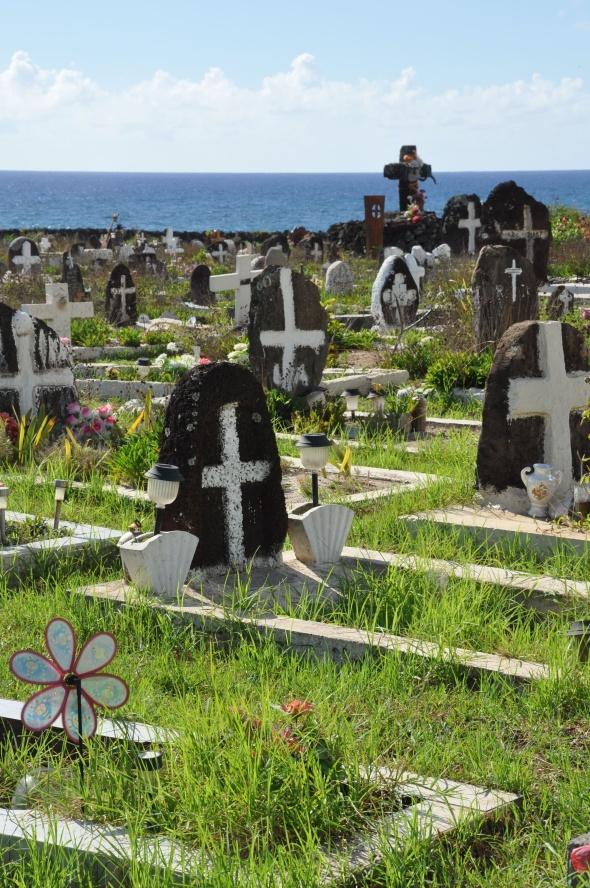 Hanga Roa's quirky cemetery