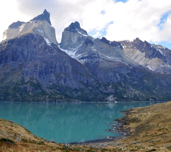 Cuernos del Paine as seen from Lago Nordernskjold