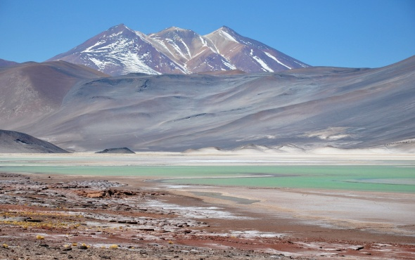Salar Aguas Calientes - almost like a watercolour