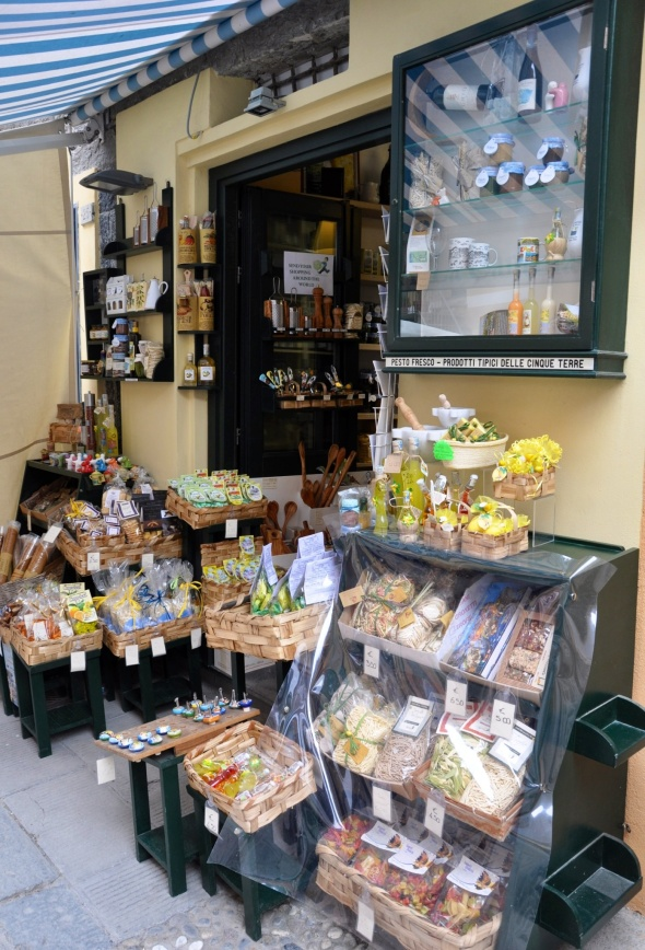 Typical local produce on sale in Vernazza