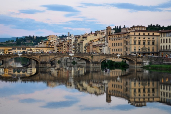 Reflections on the water, River Arno