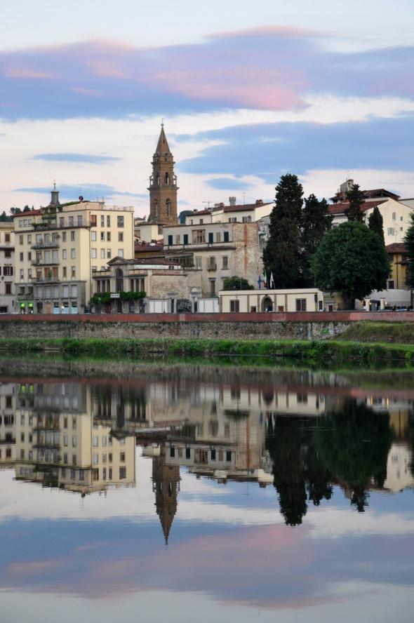 A classic Italian riverfront scene