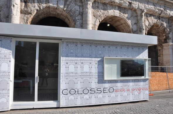 The lower level and much of the rear of the Colosseum is undergoing repair, though it's still open to visitors.
