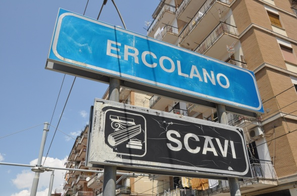 Erculano Scavi station on the Circumvesuviana railway line