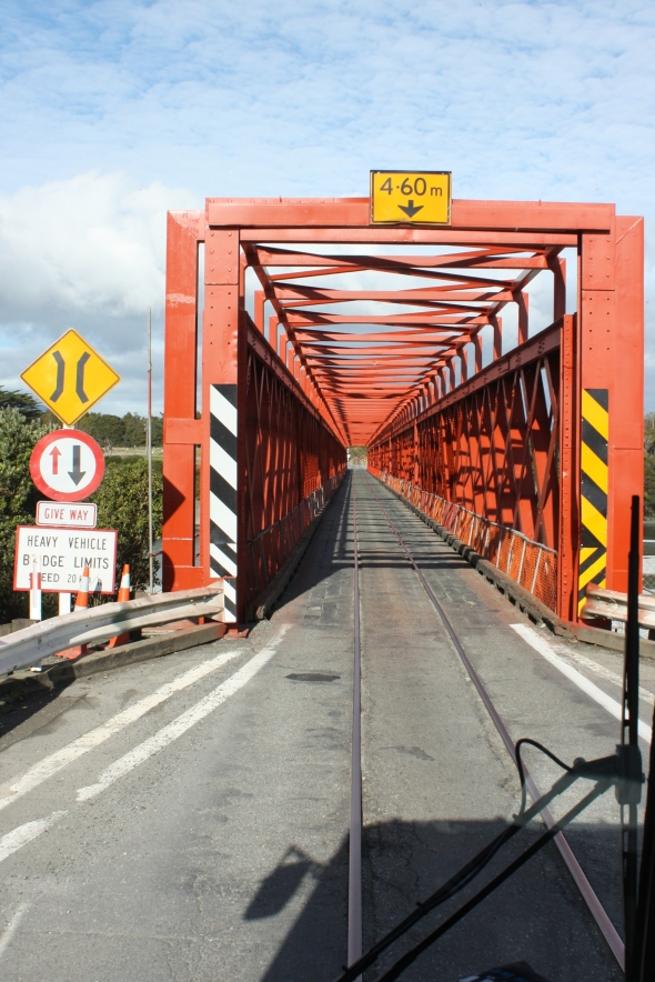 Bridge between Greymouth and Hokitika as navigated by Dave the bus driver