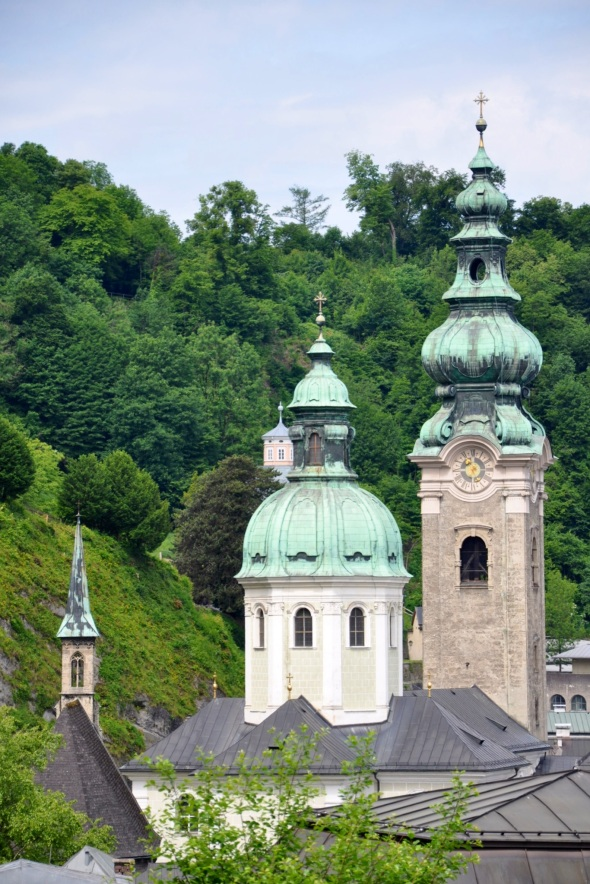 Rooftop views of Salzburg's many churches made the climb worthwhile