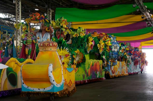 Last year's float being recycled at Mardi Gras World