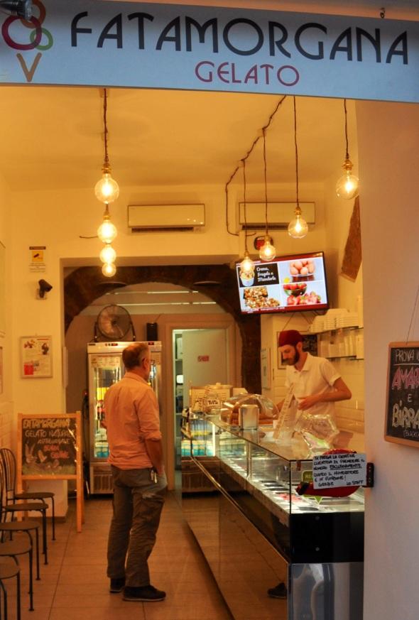 Fatamorgana's artisan ice cream parlour