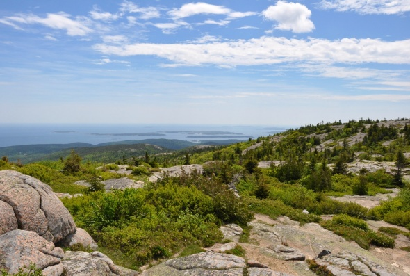 The view from the top of Cadillac Mountain