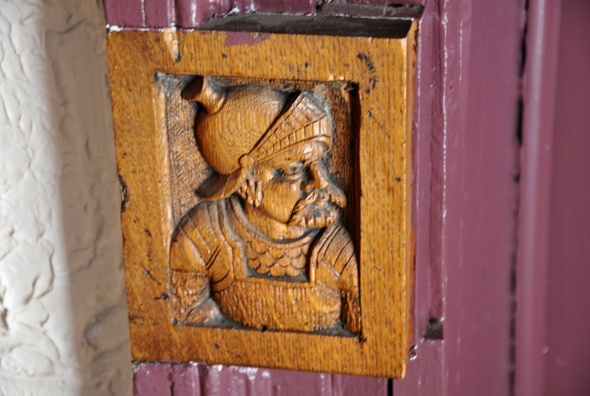 Detail of carving found on all the doors
