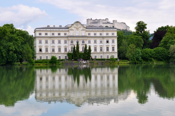 Leopoldskron palace and lake