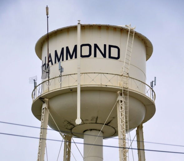 The water tower at Hammond, IL