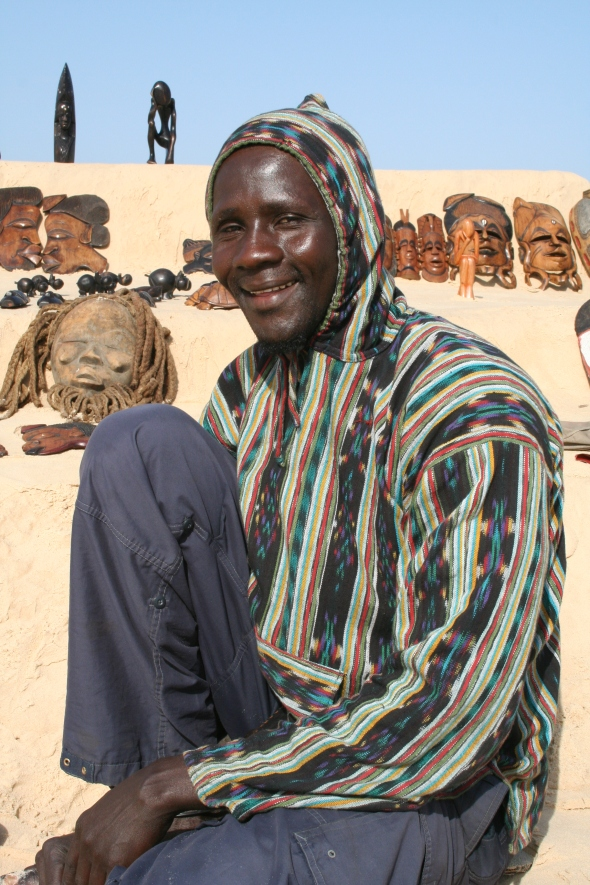 Mamadou in Senegal, who taught me how to play his bean game before I bought it