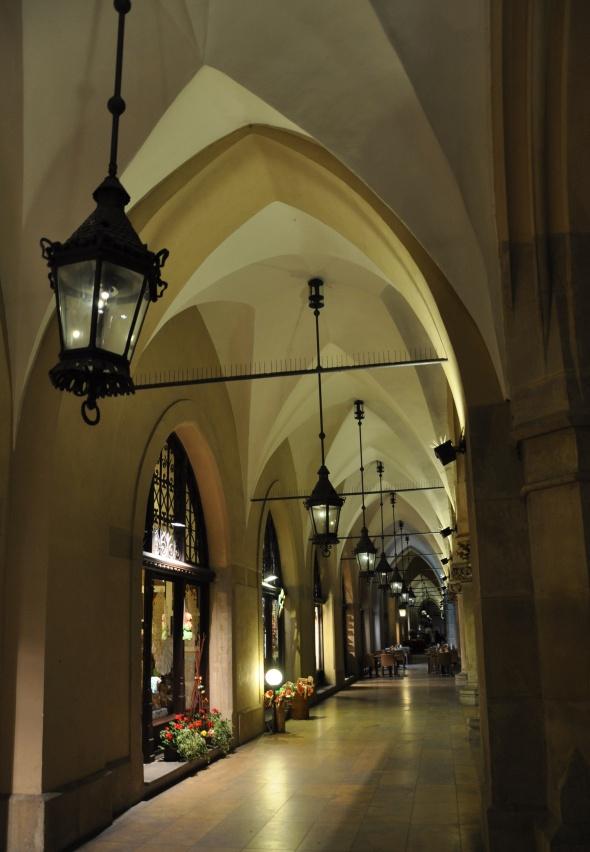 Exterior colonnaded walkways