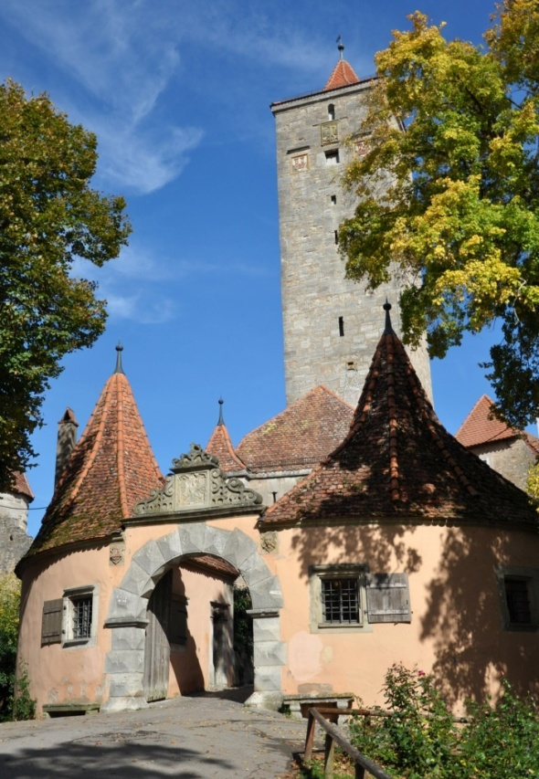 Castle Gate featuring spectacular views across the Tauber Valley from the adjacent gardens