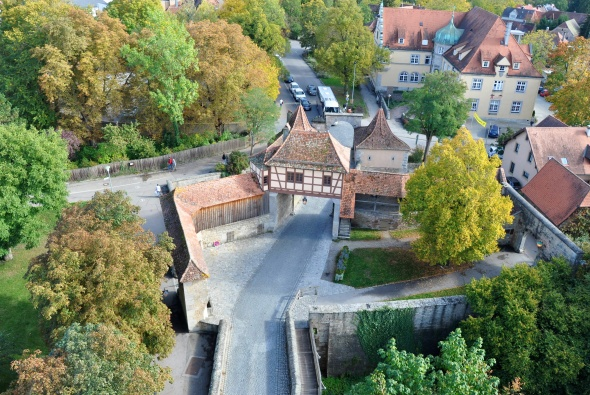 The Gatekeeper's Lodge as seen from the top of Rödertor