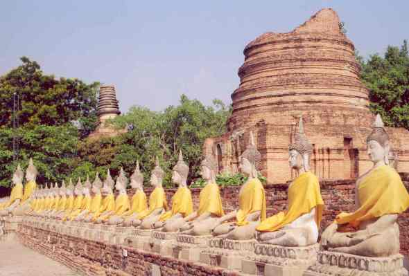 Thailand Old temple in Ayutthaya