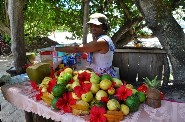 The fruit seller at Anse Severe