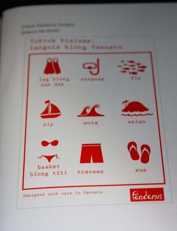 Air Vanuatu tea towel
