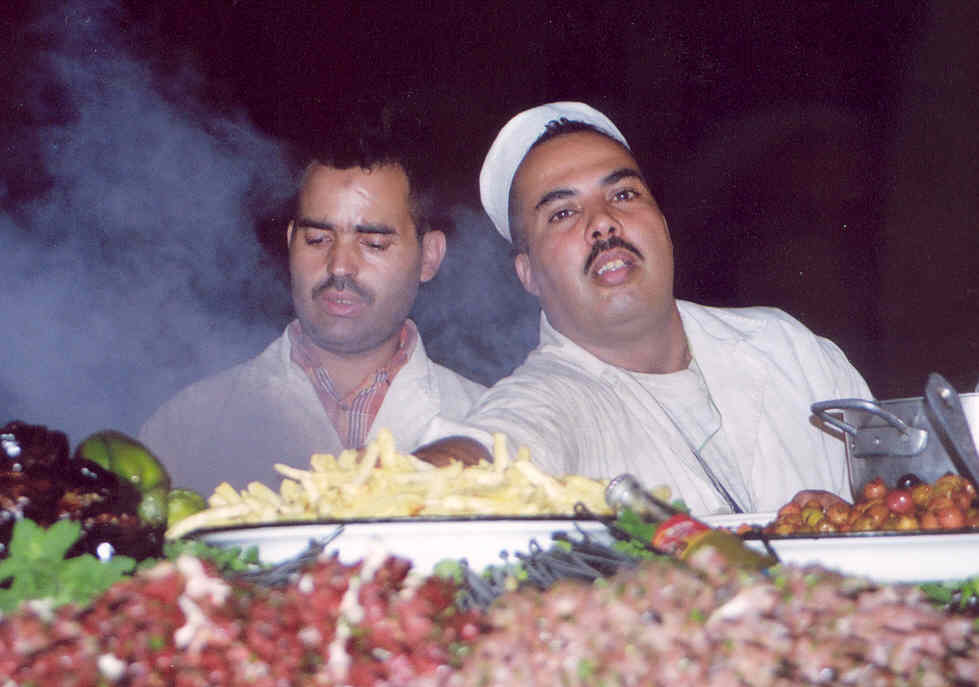 Morocco Djemaa food vendors
