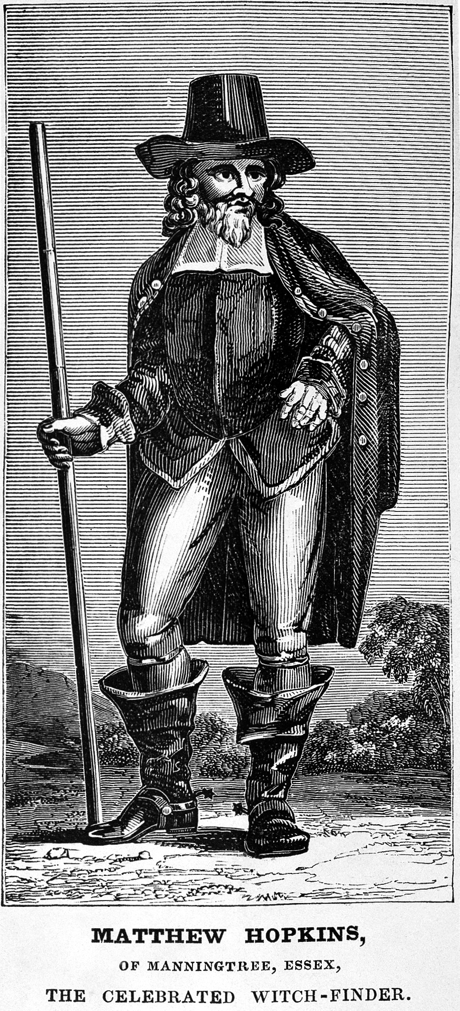 L0000660 Portrait of Matthew Hopkins, the celebrated witch-finder.