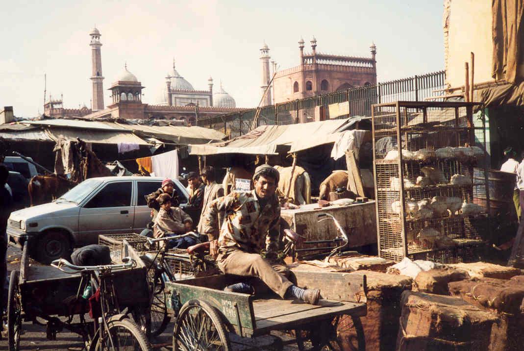 India Old Delhi street scene