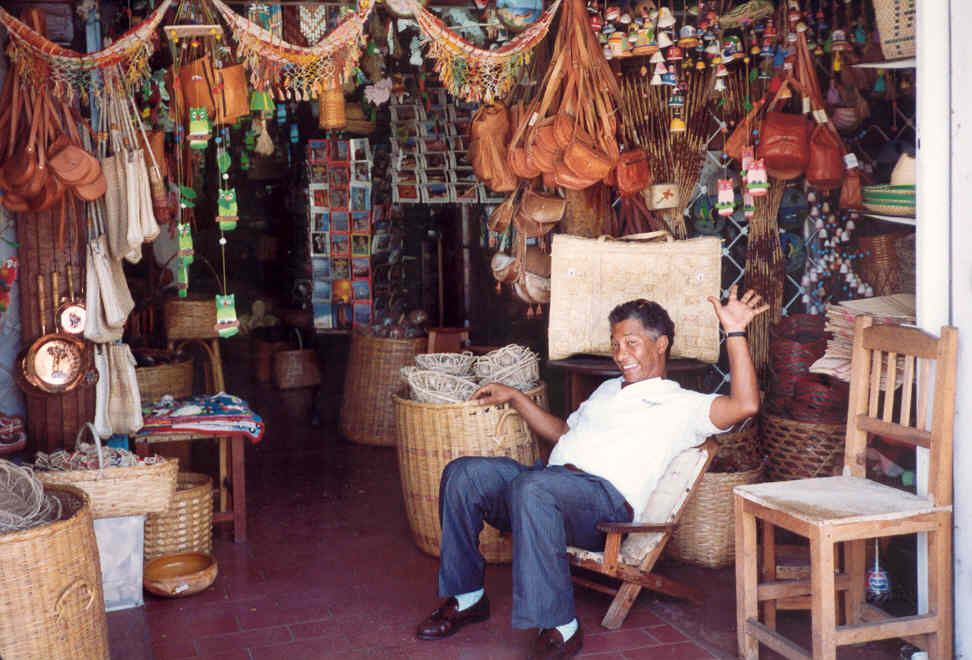 Venezuela Craft shop on Isla Margarita
